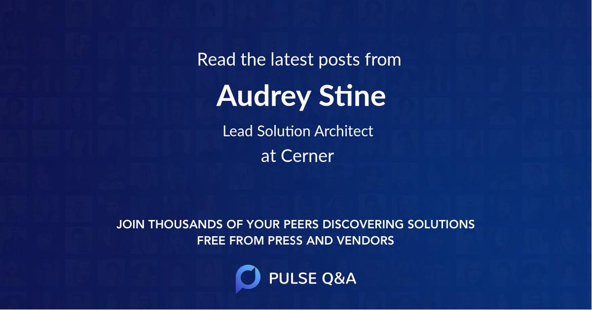Audrey Stine