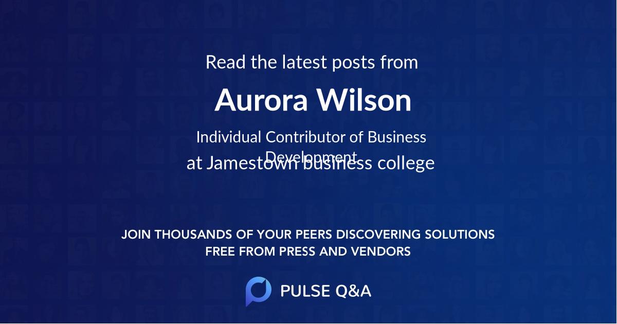 Aurora Wilson
