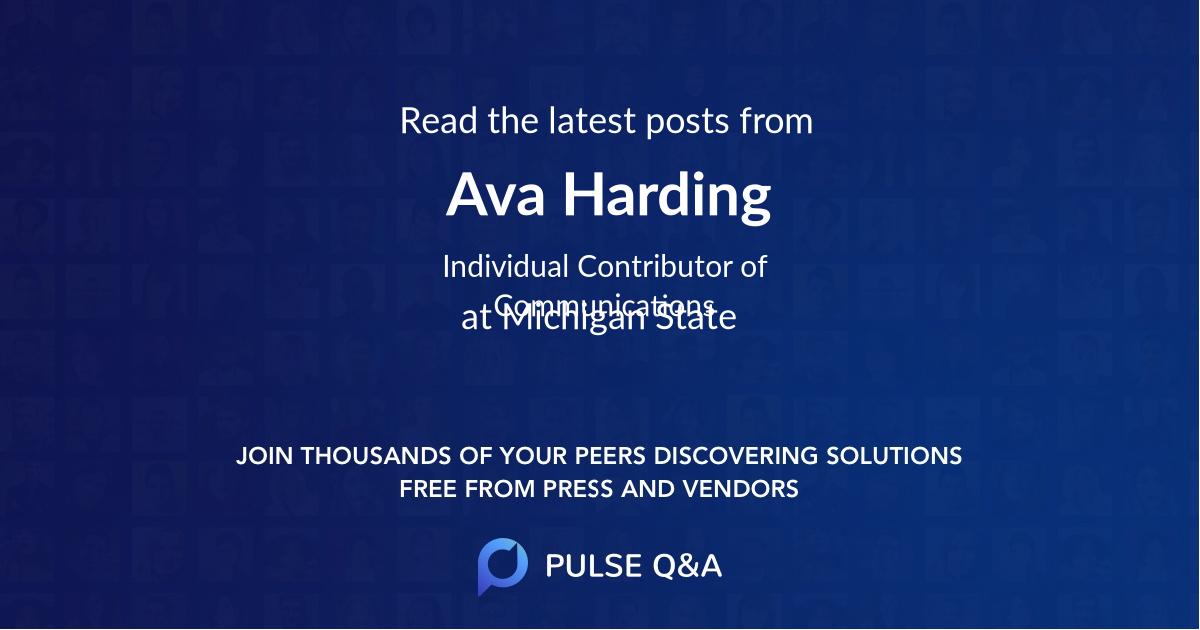 Ava Harding