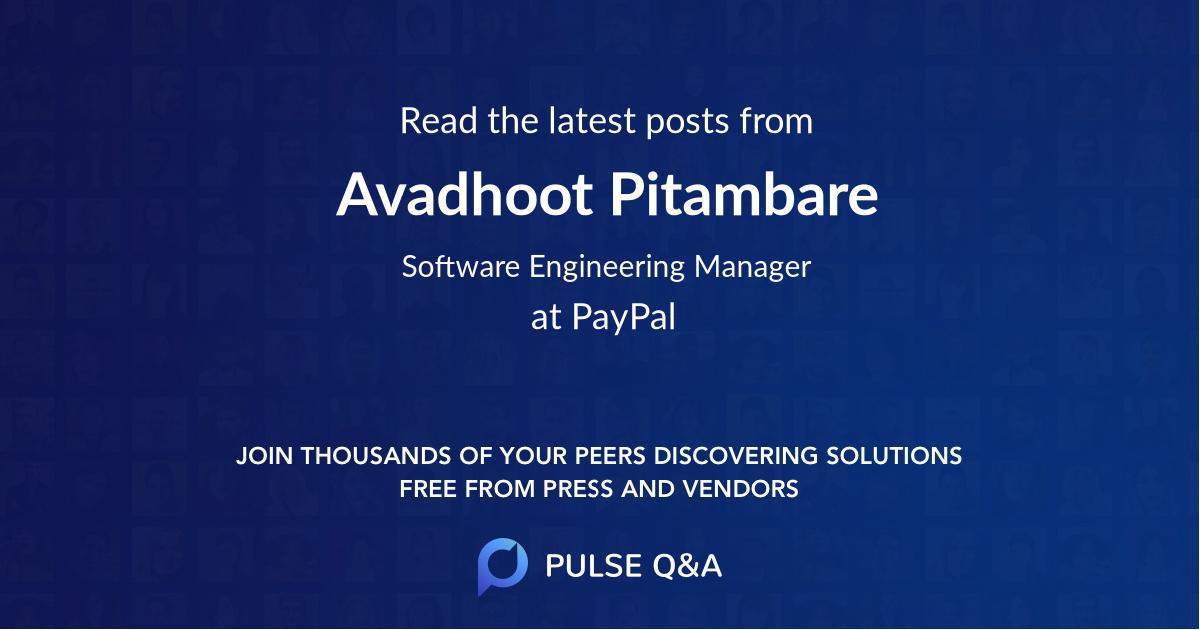 Avadhoot Pitambare