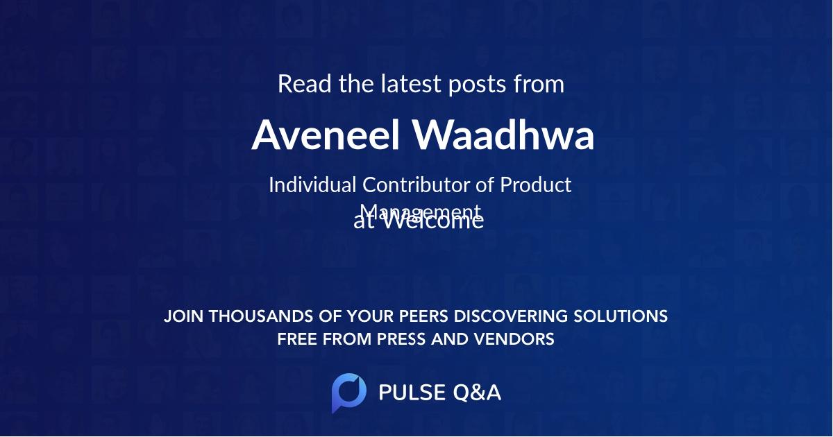 Aveneel Waadhwa