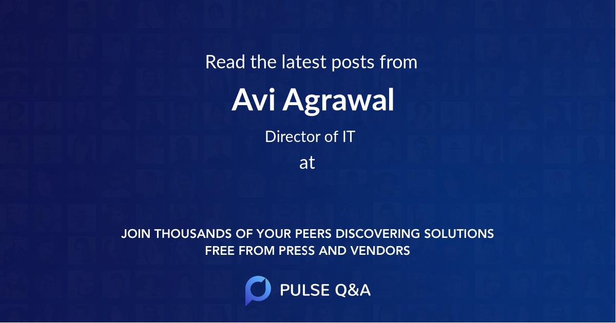 Avi Agrawal