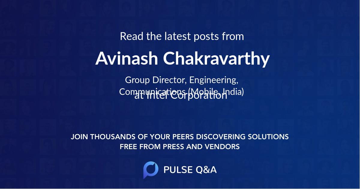 Avinash Chakravarthy
