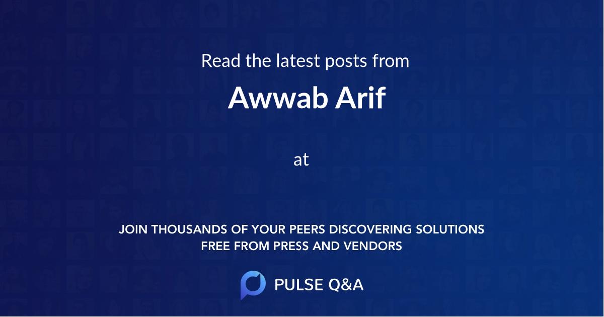 Awwab Arif