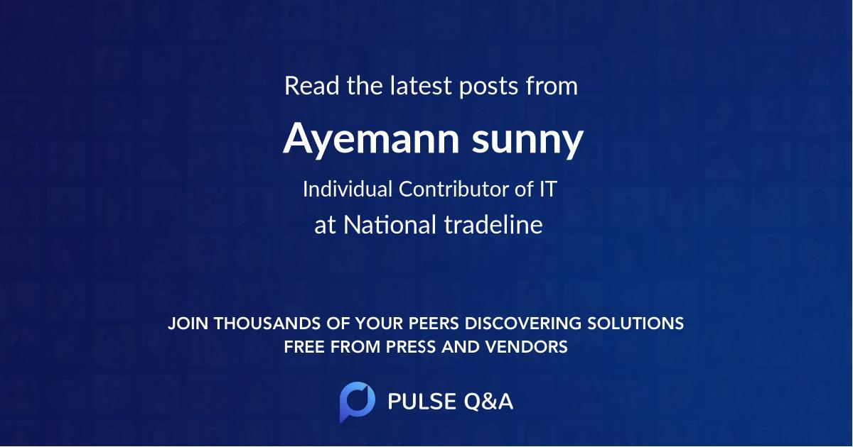 Ayemann sunny