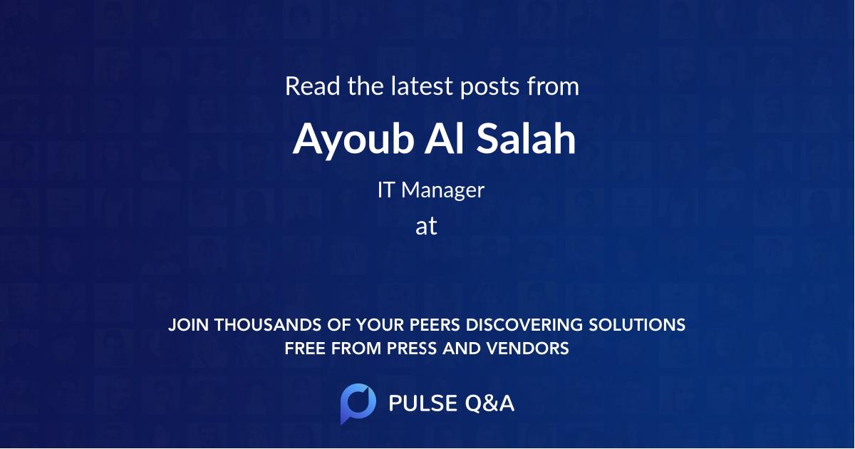 Ayoub Al Salah