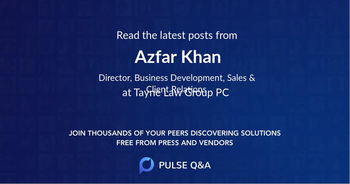 Azfar Khan