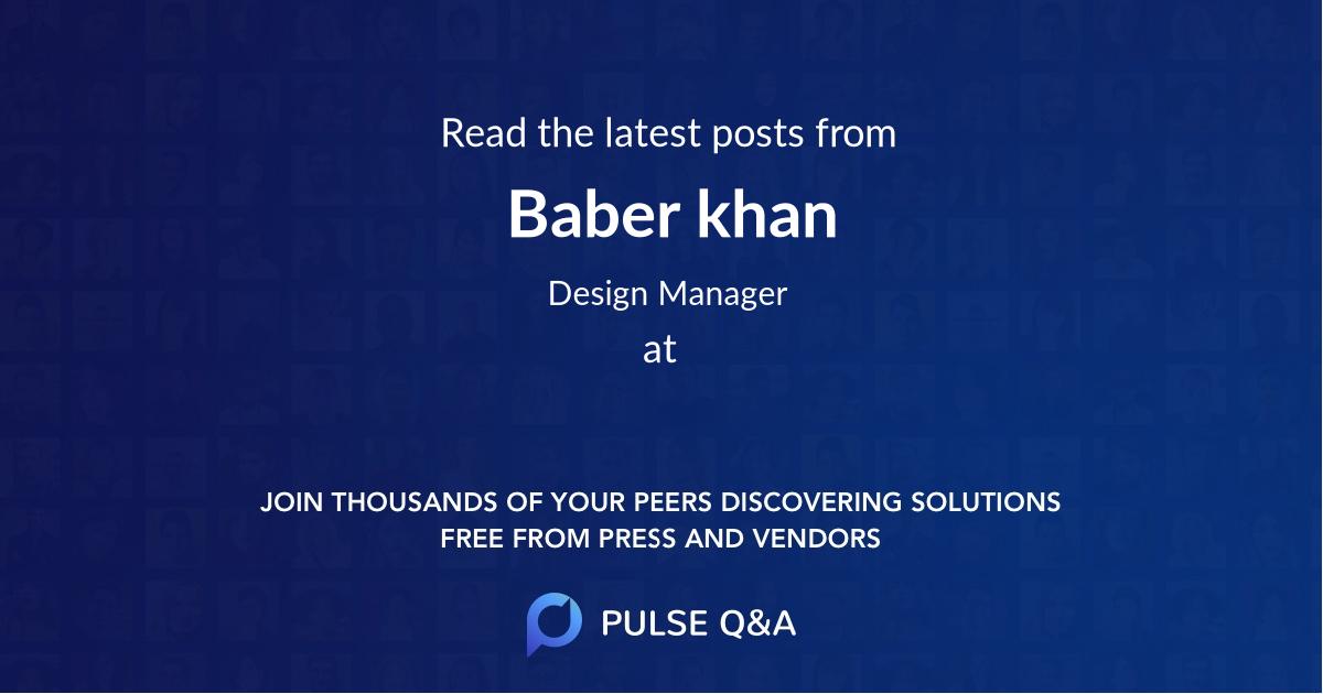 Baber khan