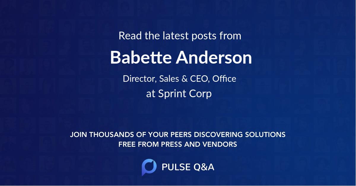 Babette Anderson