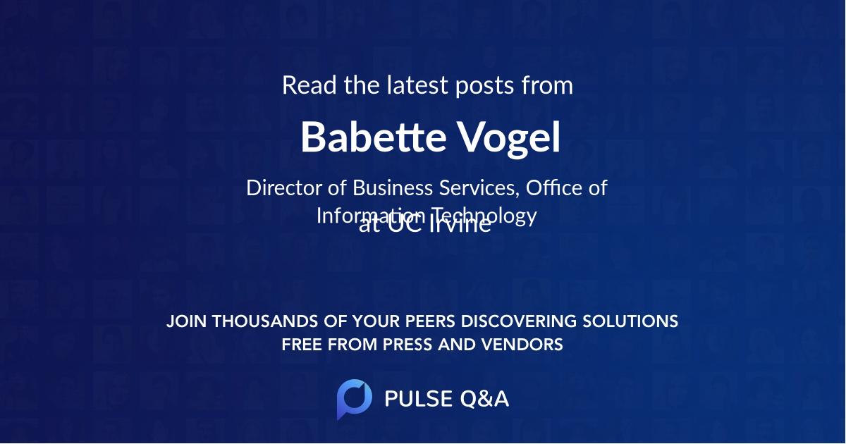 Babette Vogel