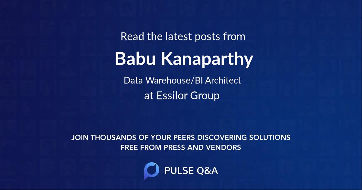 Babu Kanaparthy