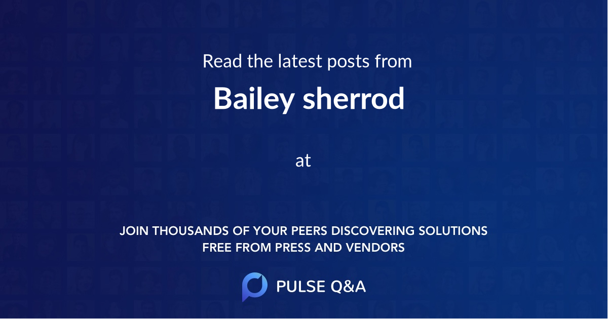Bailey sherrod