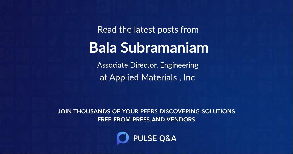 Bala Subramaniam