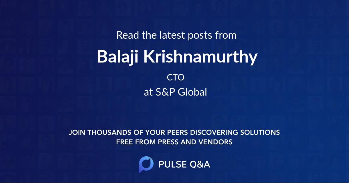 Balaji Krishnamurthy