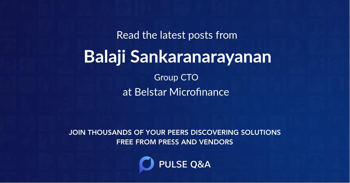 Balaji Sankaranarayanan