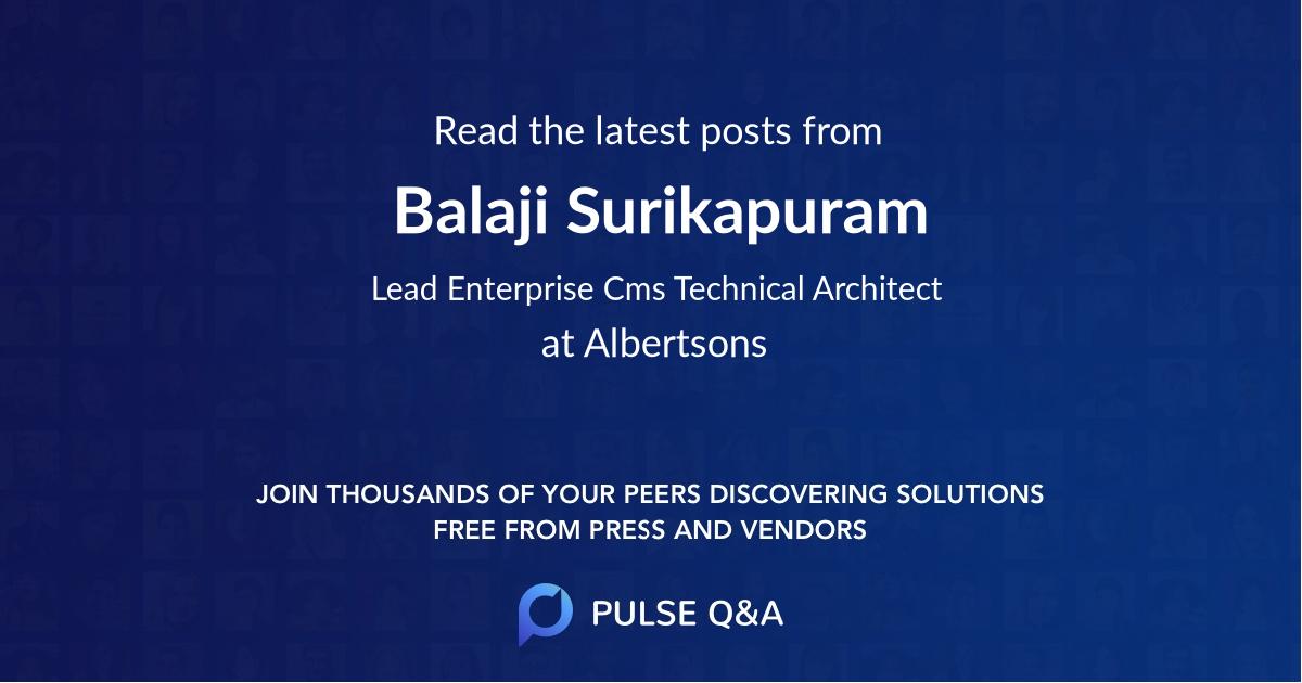 Balaji Surikapuram