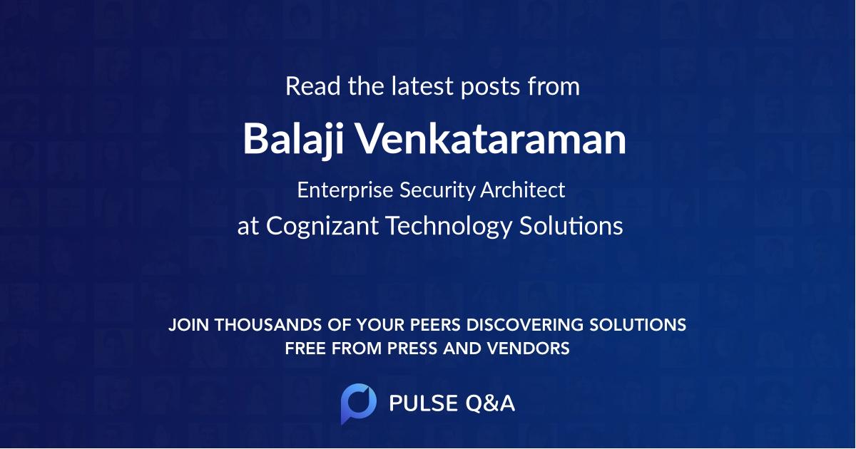 Balaji Venkataraman