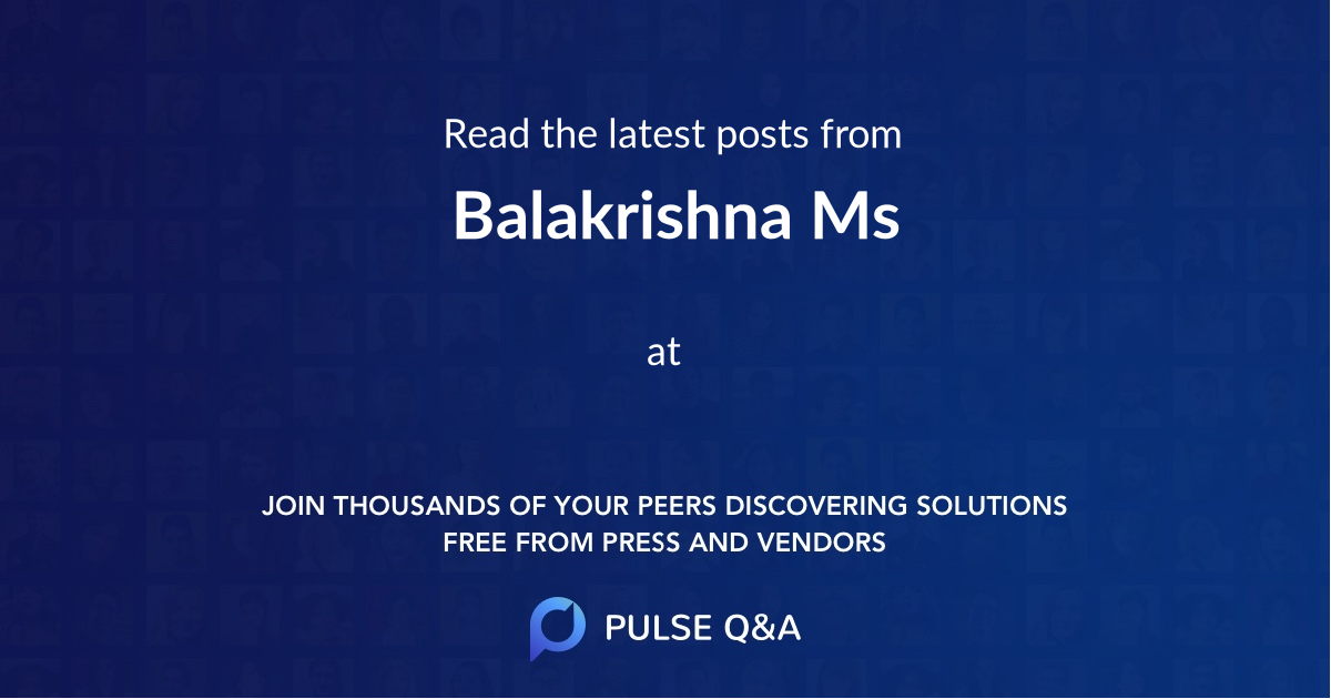 Balakrishna Ms