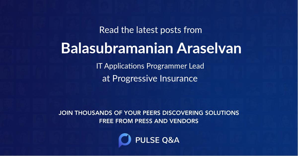 Balasubramanian Araselvan