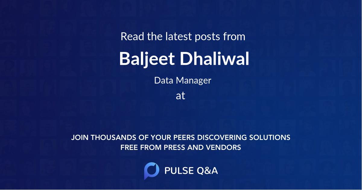 Baljeet Dhaliwal