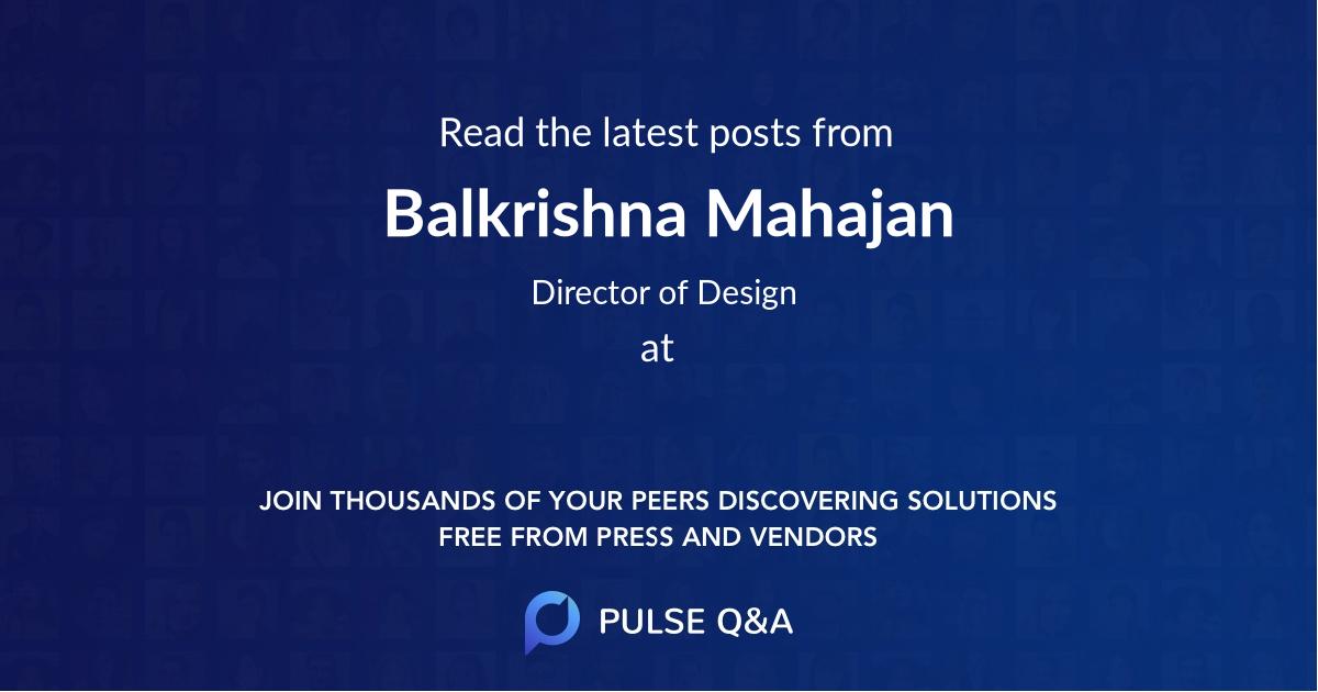 Balkrishna Mahajan