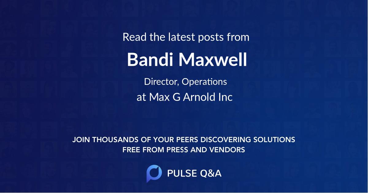Bandi Maxwell
