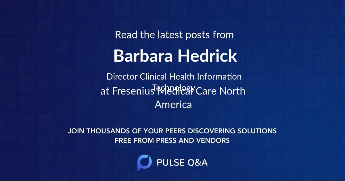 Barbara Hedrick