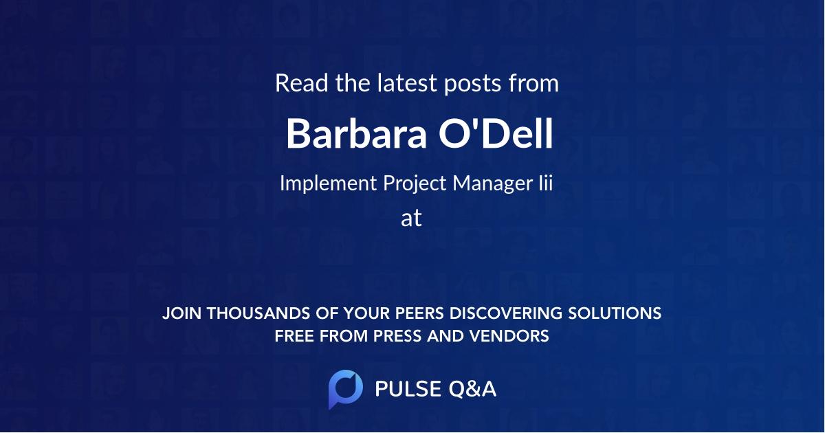 Barbara O'Dell