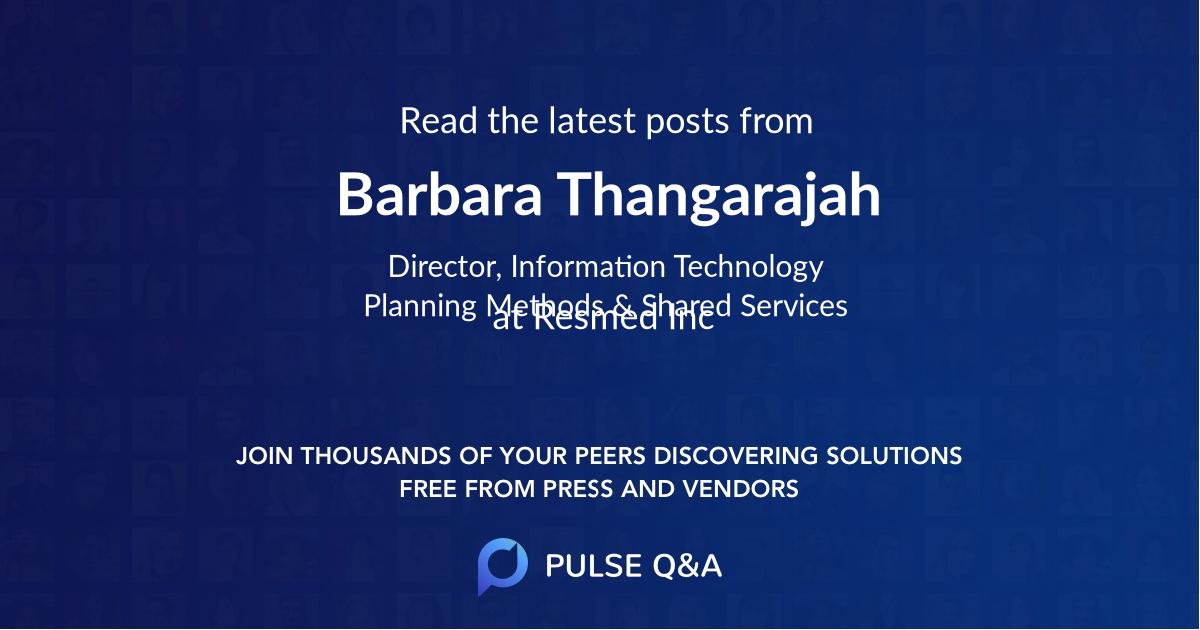 Barbara Thangarajah
