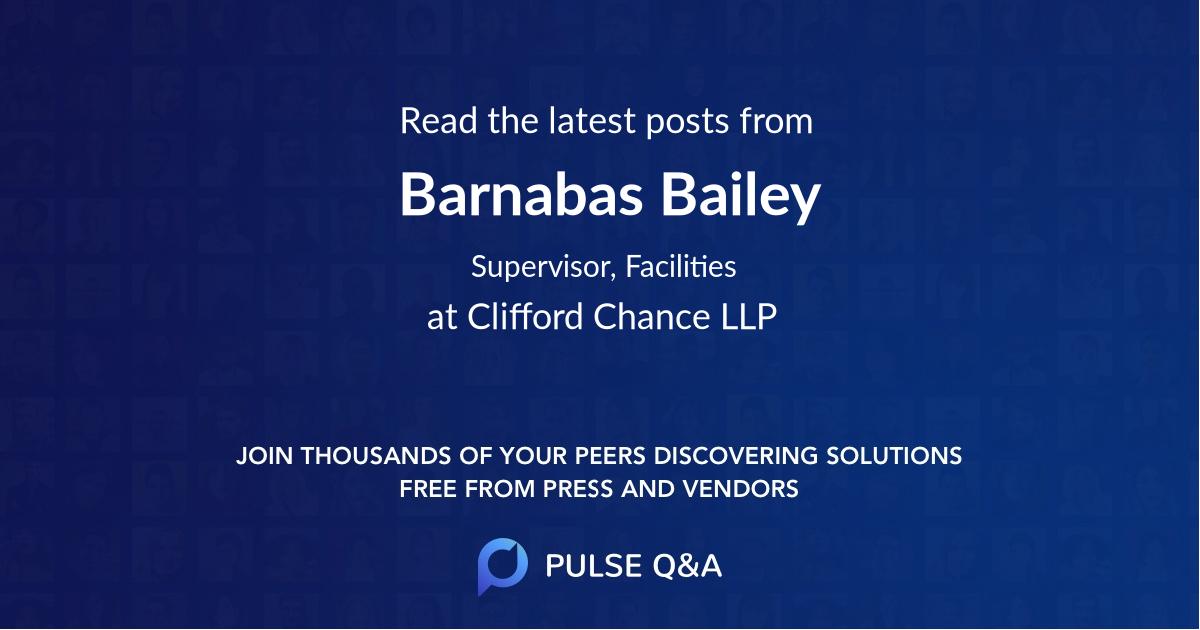 Barnabas Bailey