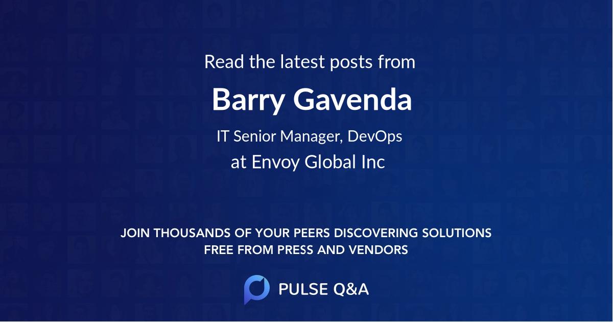Barry Gavenda
