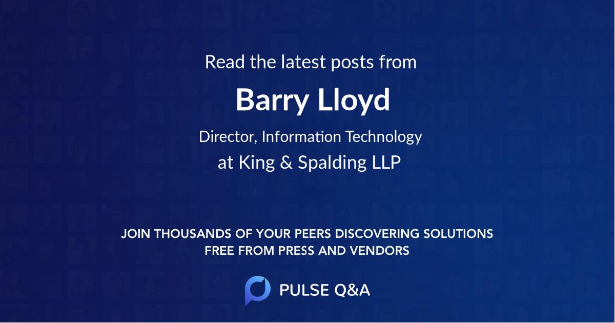 Barry Lloyd
