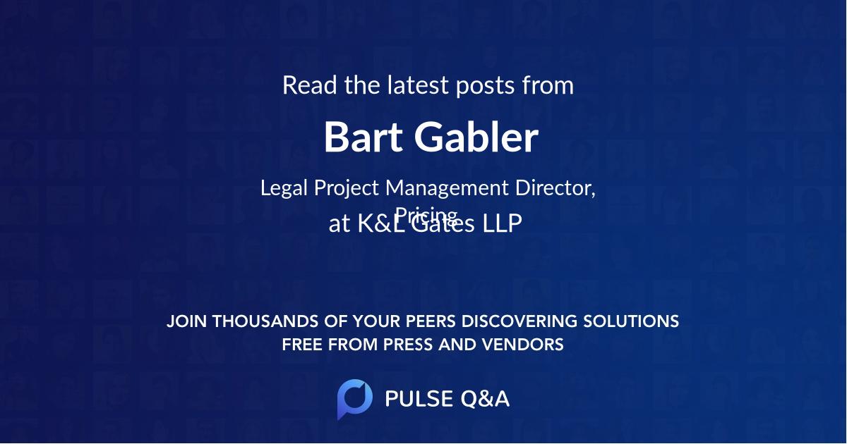 Bart Gabler