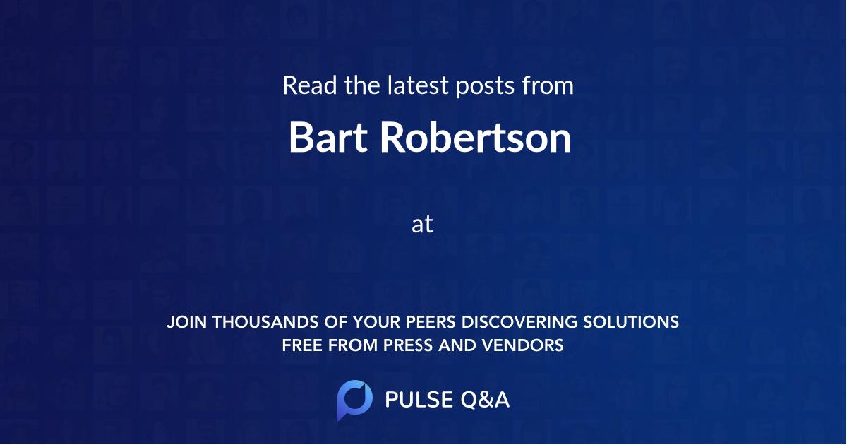Bart Robertson