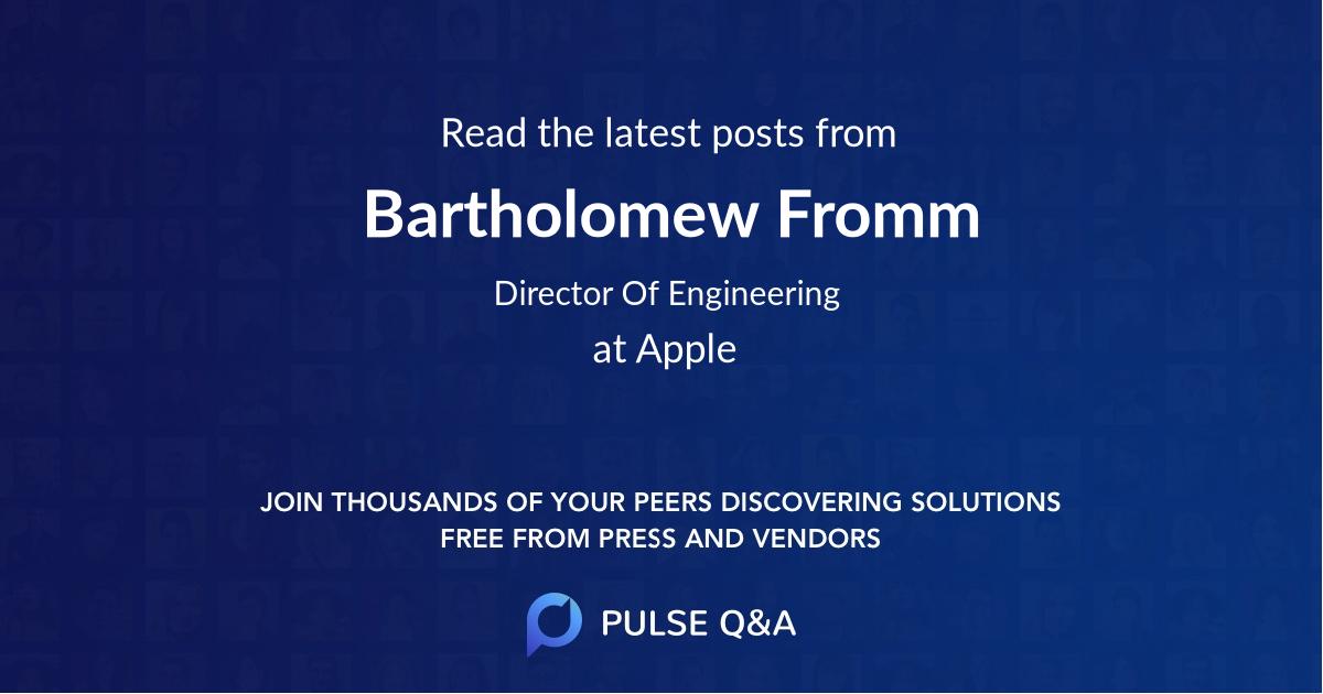 Bartholomew Fromm