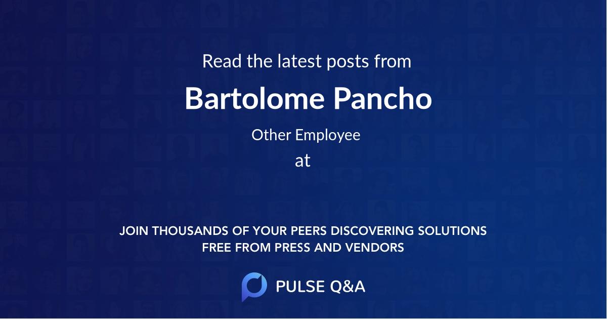 Bartolome Pancho