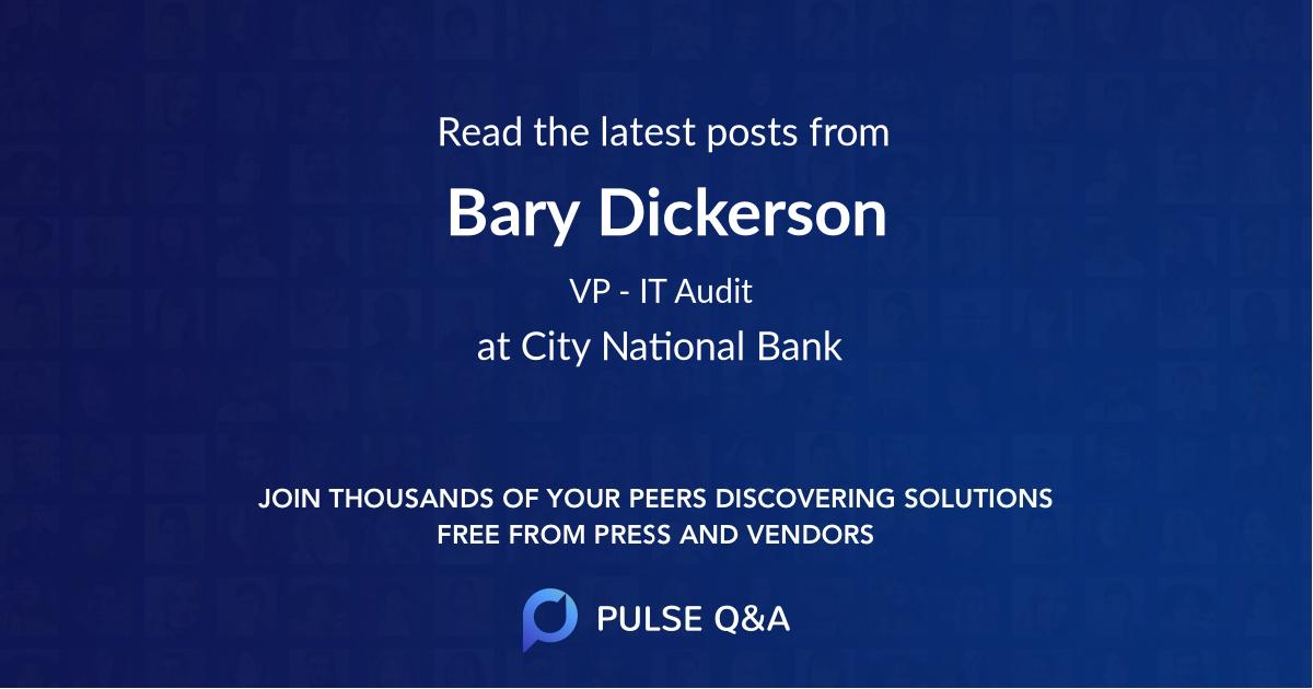 Bary Dickerson