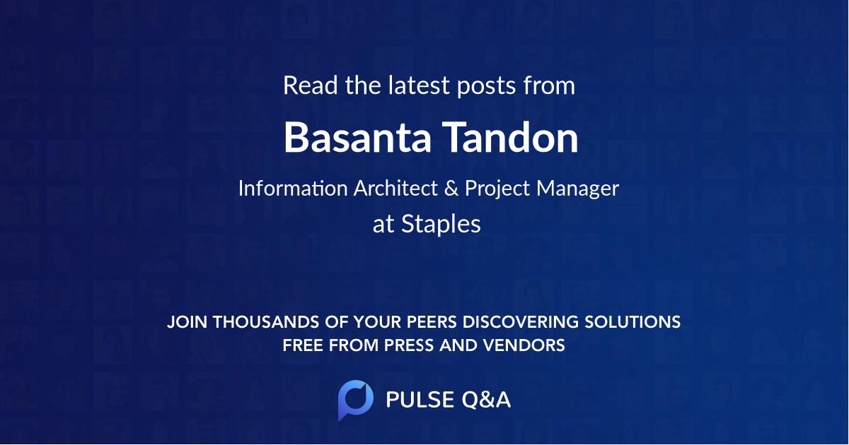 Basanta Tandon