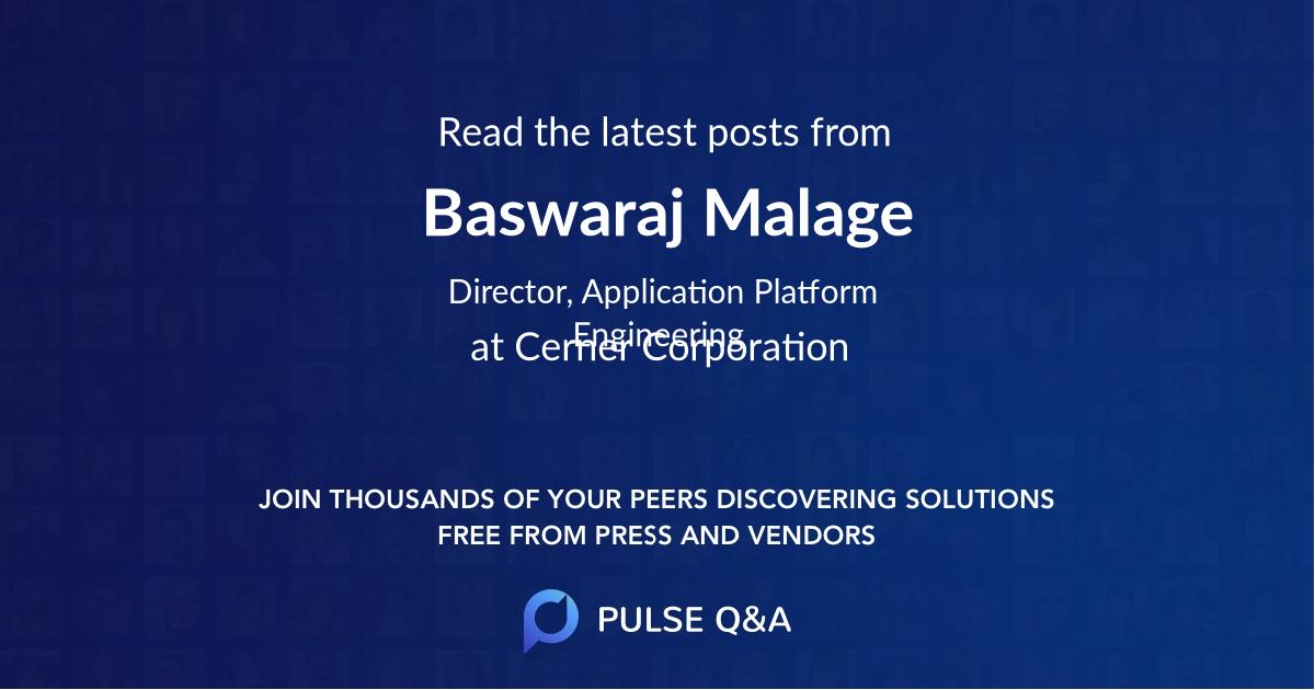 Baswaraj Malage