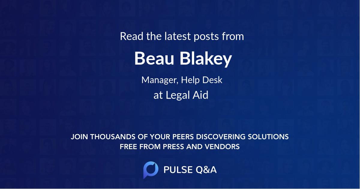 Beau Blakey