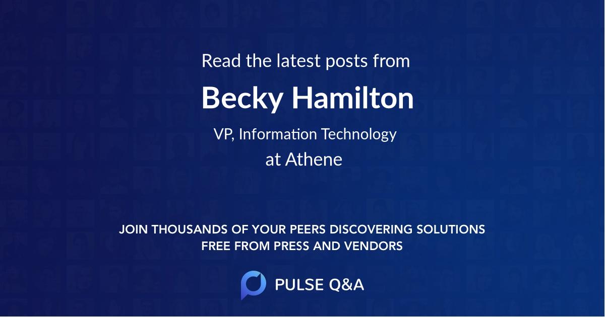 Becky Hamilton