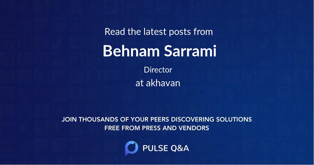 Behnam Sarrami