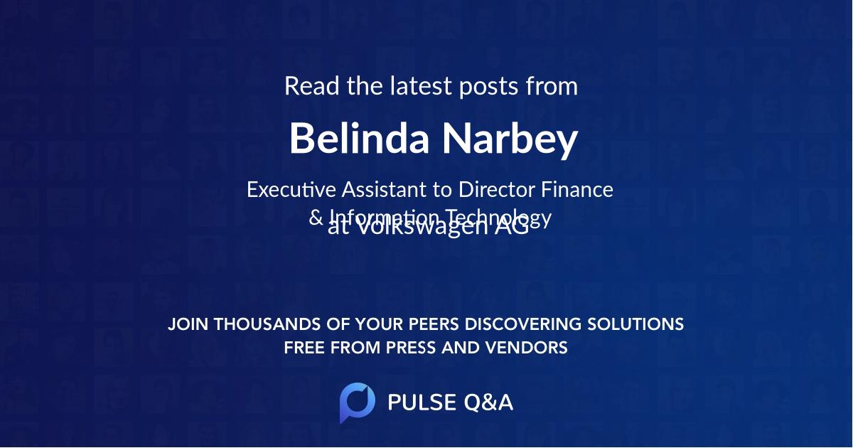 Belinda Narbey