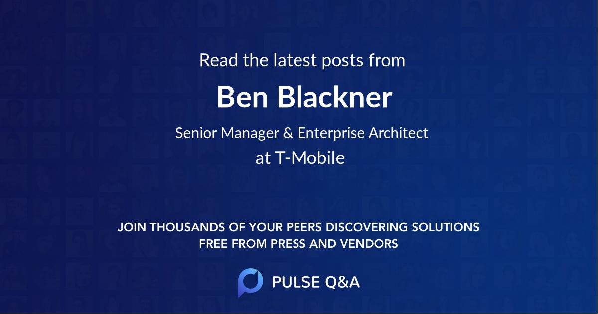 Ben Blackner
