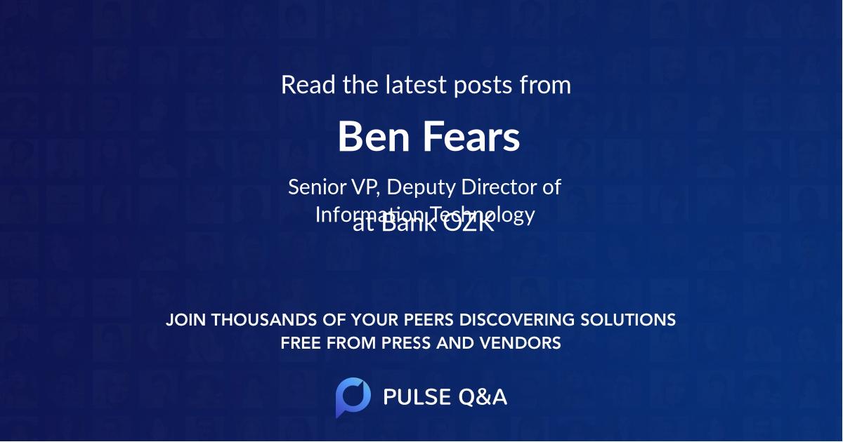 Ben Fears