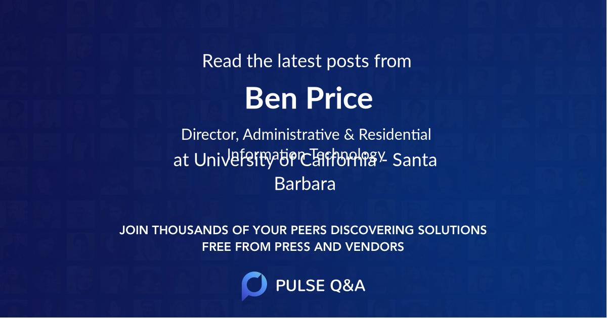 Ben Price