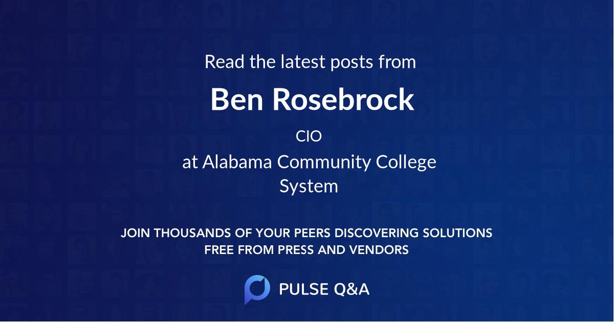 Ben Rosebrock