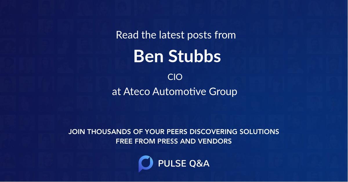 Ben Stubbs