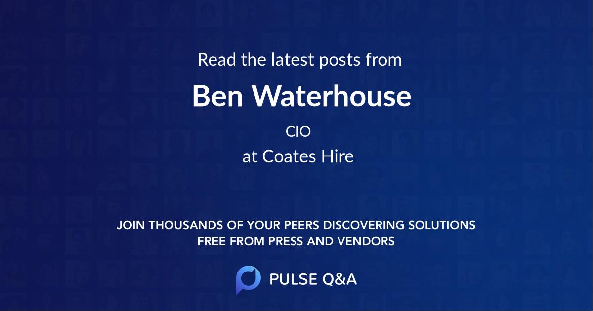 Ben Waterhouse
