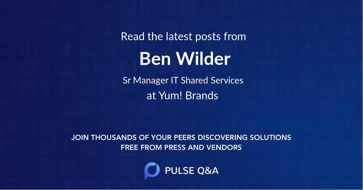 Ben Wilder